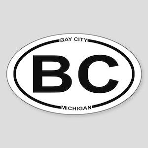 Bc - Bay City, Michigan - Sticker (oval)
