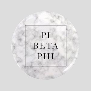 "Pi Beta Phi Marble 3.5"" Button"