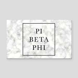 Pi Beta Phi Marble Rectangle Car Magnet