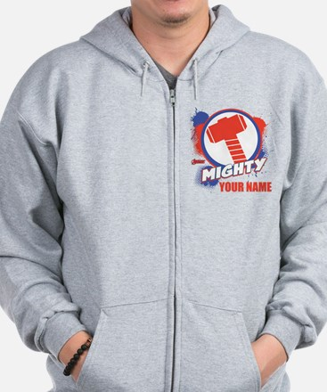 Avengers Assemble Mighty Thor Personali Zip Hoodie