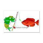 Combat-Fishing(r) Fish Vs Fish Car Magnet 20 X 12