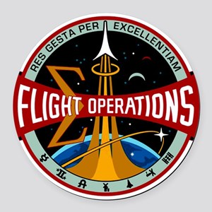 Flight Operations Logo Round Car Magnet