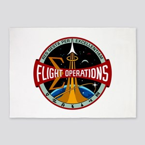 Flight Operations Logo 5'x7'Area Rug