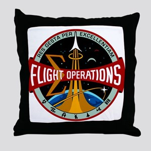 Flight Operations Logo Throw Pillow