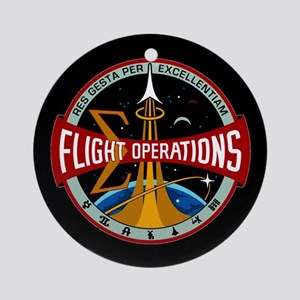 Flight Operations Logo Ornament (Round)