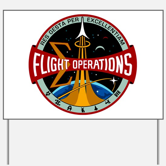 Flight Operations Logo Yard Sign