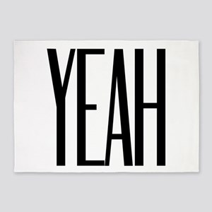 YEAH! Attitude Fun Design 5'x7'Area Rug