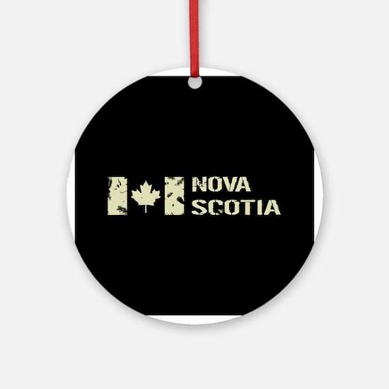Canadian Flag: Nova Scotia Round Ornament
