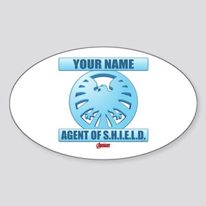 Avengers Assemble Agent of SHIELD P Sticker (Oval)