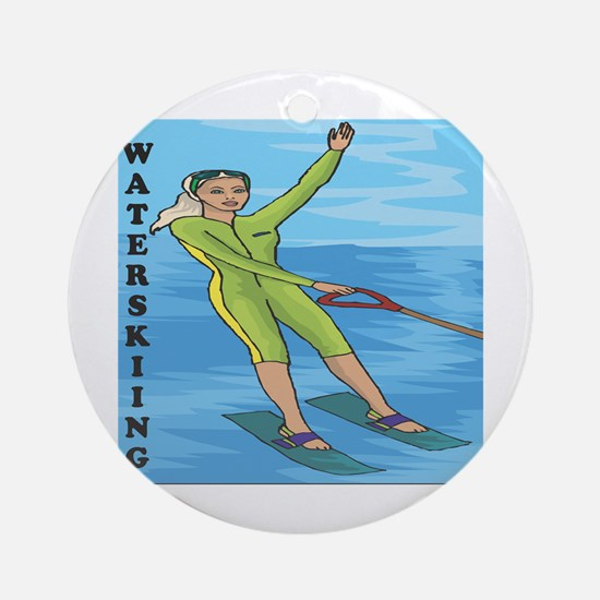 Waterskiing Enthusiast Ornament (Round)