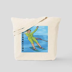 Waterskiing Enthusiast Tote Bag