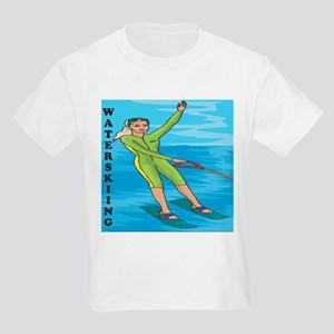 Waterskiing Enthusiast Kids Light T-Shirt