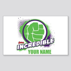 Avengers Assemble Incredible H Sticker (Rectangle)