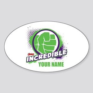 Avengers Assemble Incredible Hulk P Sticker (Oval)