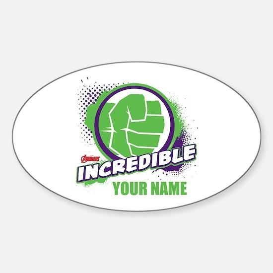 Avengers Assemble Incredible Hulk P Sticker (Oval)