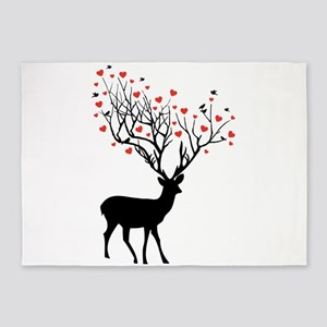 Oh, my deer 5'x7'Area Rug