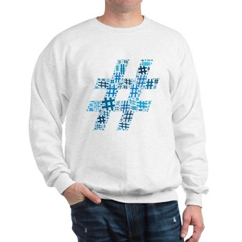 Blue Hashtag Cloud Sweatshirt