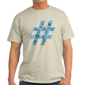 Blue Hashtag Cloud Light T-Shirt