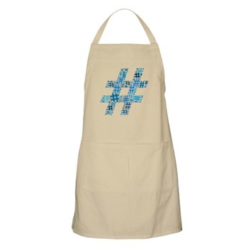 Blue Hashtag Cloud Apron