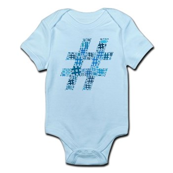 Blue Hashtag Cloud Infant Bodysuit