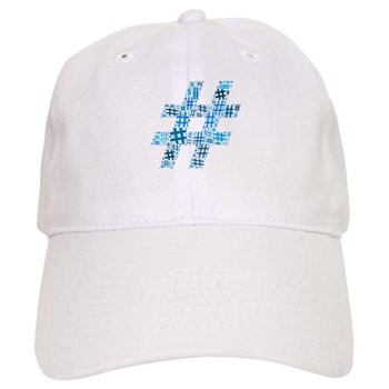 Blue Hashtag Cloud Cap