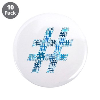 Blue Hashtag Cloud 3.5