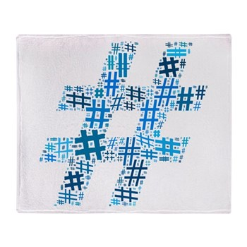 Blue Hashtag Cloud Stadium Blanket