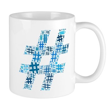 Blue Hashtag Cloud Mug