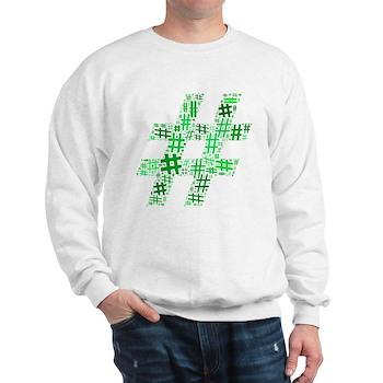 Green Hashtag Cloud Sweatshirt