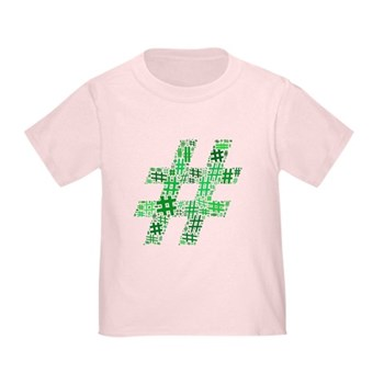 Green Hashtag Cloud Infant/Toddler T-Shirt