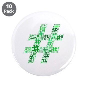 Green Hashtag Cloud 3.5