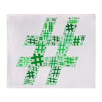 Green Hashtag Cloud Stadium Blanket