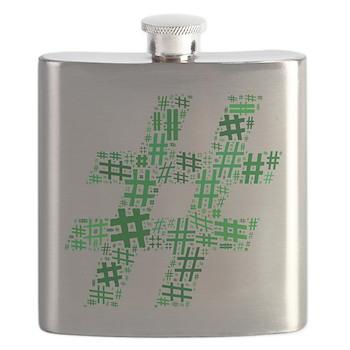 Green Hashtag Cloud Flask