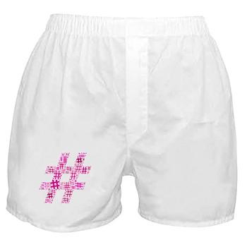 Pink Hashtag Cloud Boxer Shorts
