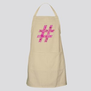 Pink Hashtag Cloud Apron