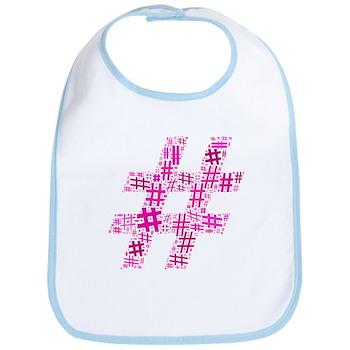 Pink Hashtag Cloud Bib