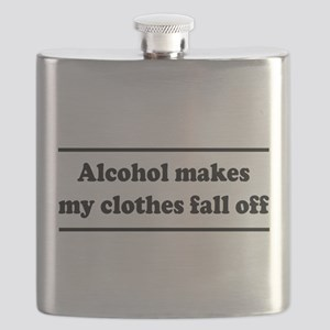 Alcohol Makes My Clothes Fall Off Flask