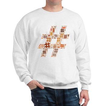 Orange Hashtag Cloud Sweatshirt