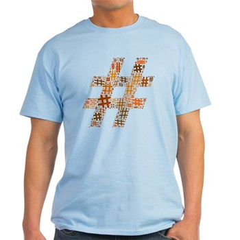 Orange Hashtag Cloud Light T-Shirt