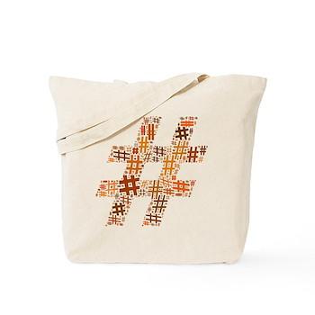 Orange Hashtag Cloud Tote Bag