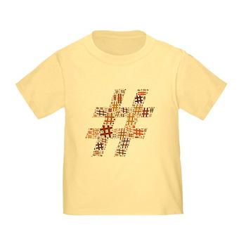 Orange Hashtag Cloud Infant/Toddler T-Shirt