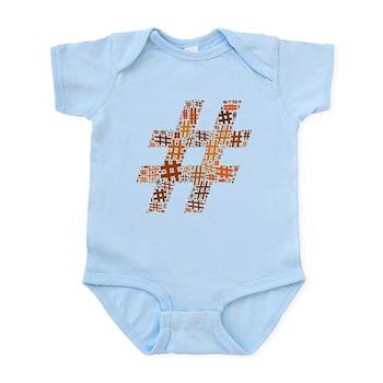 Orange Hashtag Cloud Infant Bodysuit