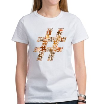 Orange Hashtag Cloud Women's T-Shirt