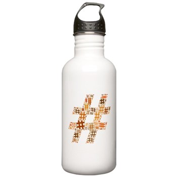 Orange Hashtag Cloud Stainless Water Bottle 1.0L
