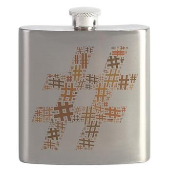 Orange Hashtag Cloud Flask