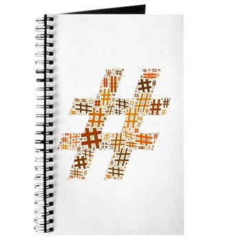 Orange Hashtag Cloud Journal