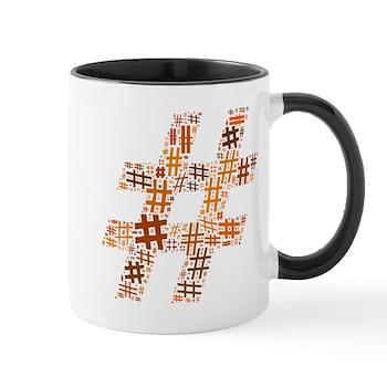 Orange Hashtag Cloud Mug