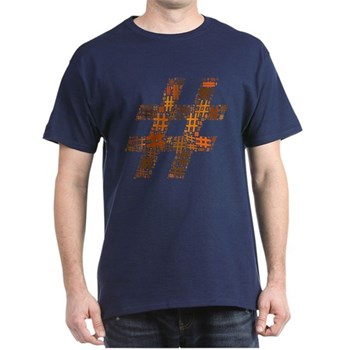 Orange Hashtag Cloud Dark T-Shirt
