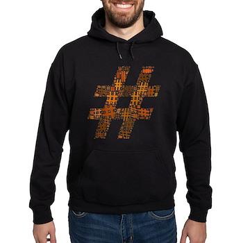 Orange Hashtag Cloud Dark Hoodie