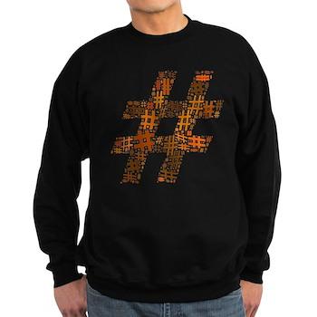 Orange Hashtag Cloud Dark Sweatshirt